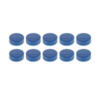16 600 14 Магниты Magnetoplan Magnum, сила 2 кг, диаметр 34 мм, 10 шт, синие