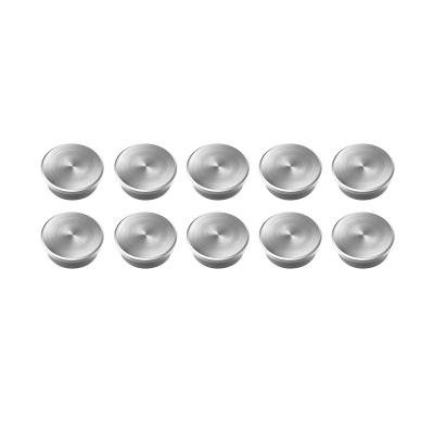 16 630 Магниты Magnetoplan Forte, набор из 10 шт, сила 2,3 кг, диаметр 20 мм, серебристые