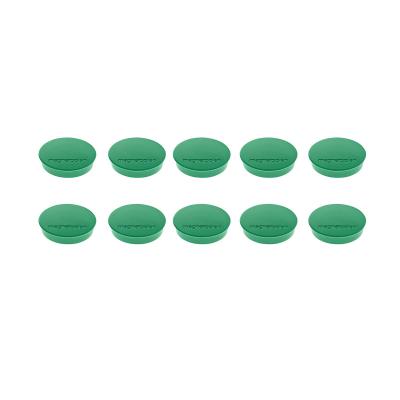 16 642 05 Магниты Magnetoplan Standard, сила 0,7 кг, диаметр 30 мм, 10 шт, зеленые