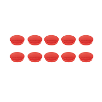 16 642 06 Магниты Magnetoplan Standard, сила 0,7 кг, диаметр 30 мм, 10 шт, красные