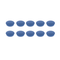 16 642 14 Магниты Magnetoplan Standard, сила 0,7 кг, диаметр 30 мм, 10 шт, синие