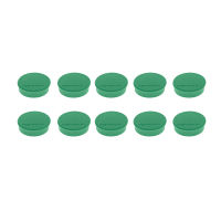16 645 05 Магниты Magnetoplan Hobby, сила 0,3 кг, диаметр 25 мм, 10 шт, зеленые