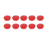 16 645 06 Магниты Magnetoplan Hobby, сила 0,3 кг, диаметр 25 мм, 10 шт, красные