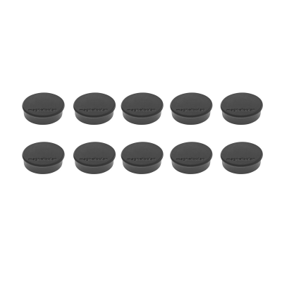 16 645 12 Магниты Magnetoplan Hobby, сила 0,3 кг, диаметр 25 мм, 10 шт, черные