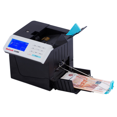 Автоматический детектор валют (банкнот)/портативный счетчик банкнот DoCash CUBE (с АКБ)