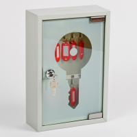 Ключница (шкаф для ключей) Office-Force для 10 ключей, настенная, металлическая, 200 х 300 х 80 мм