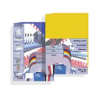 Обложка для переплета цветной пластик А4, красная, 280 г/м2, 100 шт