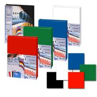 Обложка для переплета картон-глянец А4, черная, 250 г/м2, 100 шт