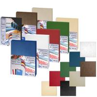 Обложка для переплета картон-кожа А4, синяя, 270 г/м2, 100 шт