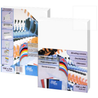 Обложка для переплета прозрачная глянцевая А4, толщина 0,18 мм, 100 шт