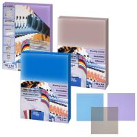 Обложка для переплета ProfiOffice тонированная рифленая А4, синяя, толщина 0,40 мм, 50 шт, 59045