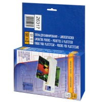 Пакетная пленка для ламинирования глянцевая, 111 х 154 мм (A6), 100 мкм, 100 шт