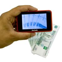 Портативный карманный детектор валют DoCash Micro IR (красный)