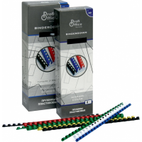 Пружина пластиковая для переплета ProfiOffice 21 кольцо, диаметр 28 мм, кол-во листов 200-230, синяя, 50 шт