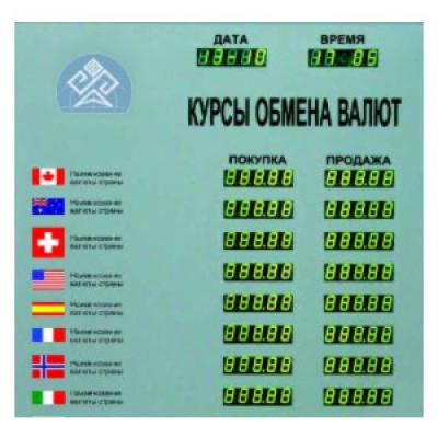 Табло курсов валют Kobell CERB-8