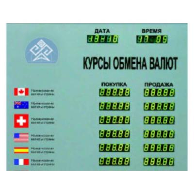 Табло курсов валют Kobell TEK-6