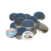 Заготовки для изготовления значков Bulros, диаметр 75 мм, 100 шт
