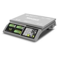 """Торговые настольные весы M-ER 326 AC-32.5 """"Slim"""" LCD Белые"""