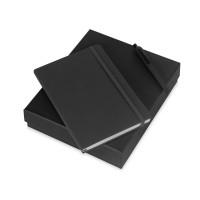 Подарочный набор Vision Pro soft-touch с ручкой и блокнотом А5, черный