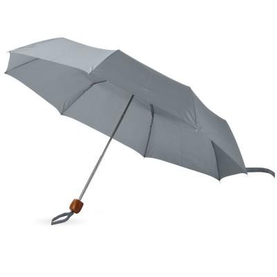 Зонт складной Oliviero, механический 21,5, серый