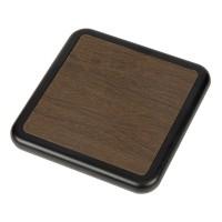 Устройство для беспроводной зарядки Solstice, коричневый/черный