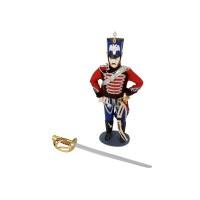 Набор Гусарская баллада: декоративная кукла, нож для бумаг, коричневый/разноцветный Подарочный набор