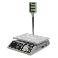 """Торговые настольные весы M-ER 326 ACP-32.5 """"Slim"""" LCD Белые"""