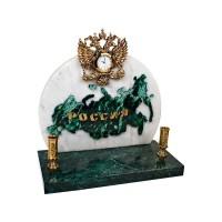 Часы Россия, зеленый/золотистый