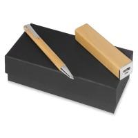 Подарочный набор Bali village с ручкой и зарядным устройством светло-коричневый Подарочный набор