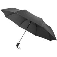 Складной полуавтоматический зонт Gisele 21 дюйм, черный