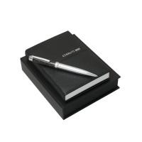 Подарочный набор: блокнот A6, ручка шариковая. Cerruti 1881