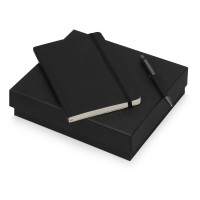 Подарочный набор Moleskine Van Gogh с блокнотом А5 Soft и ручкой, черный