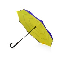 Зонт-трость наоборот Inversa, полуавтомат, темно-синий/желтый