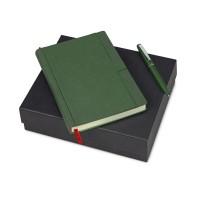 Подарочный набор Bruno Visconti Marseille-Saint-Just: ежедневник недати.А5, ручка шарик., зеленый