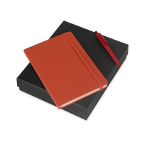 Подарочный набор Vision Pro soft-touch с ручкой и блокнотом А5, оранжевый